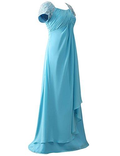 Perles Cdress Chapeau De Paillettes Manches Mère Des Robes De Mariée Prom Robes Formelles Rose