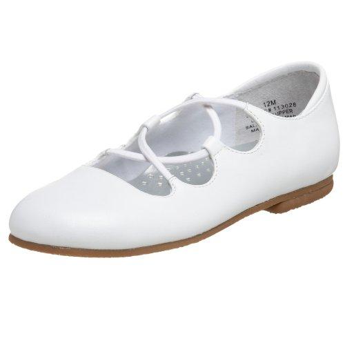 Jumping Jacks Toddler/Little Kid Teri Dress Shoe,White Leather,8.5 W US Toddler