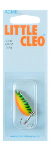 - Acme Little Cleo Fishing Terminal Tackle, 1/8-Ounce, Fire Tiger
