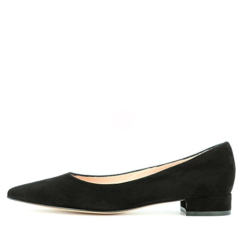 Evita Shoes Franca Damen Pumps Rauleder Schwarz