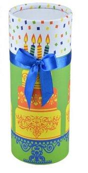 Amazon.com: Decorative Round Cardboard Boxes with Lids (Birthday ...