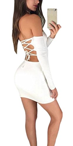 Pure Women White Off Dresses Strappy Hip Low Jaycargogo Color Package The Shoulder Back Mini d5wOTYx