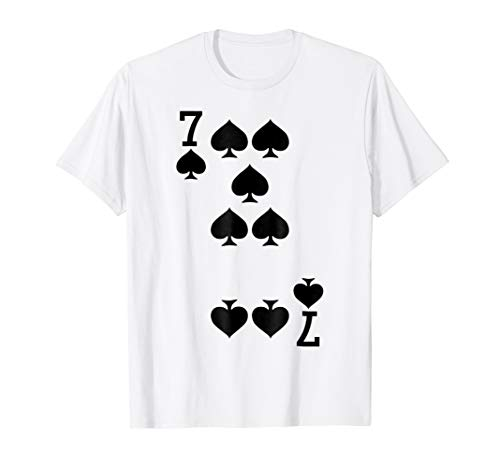 7 of Spades - Playing Card Halloween Costume T-Shirt