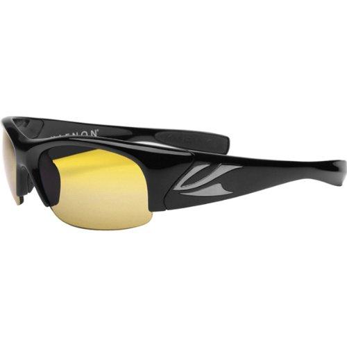 Kaenon Men's Hard Kore Polarized Shield Sunglasses, Black Frame/Yellow Y35 Lens, 63 - Sunglasses Kaenon Prescription