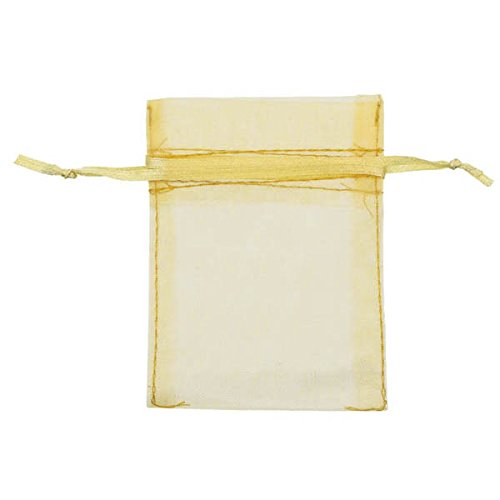 Amscan Lovely Wedding Organza Favour Bags Saver Pack Party Supplies (288 Piece), Gold by Amscan