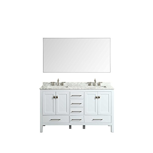 Eviva Evmr-60x30-Metalframe Sax 60'' Chrome Metal Frame Bathroom Wall Mirror Combination by Eviva