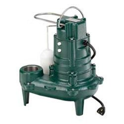 Zoeller 266-0001 Waste-Mate M266 Cast Iron 1/2 HP Automatic Sewage Pump (Effluent Pump 0.5 Hp)
