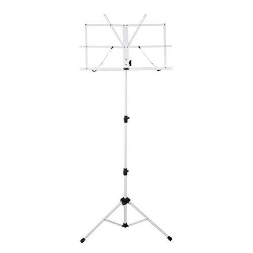 (Ravel SSSRAVELWHITE Folding Music Stand, White)