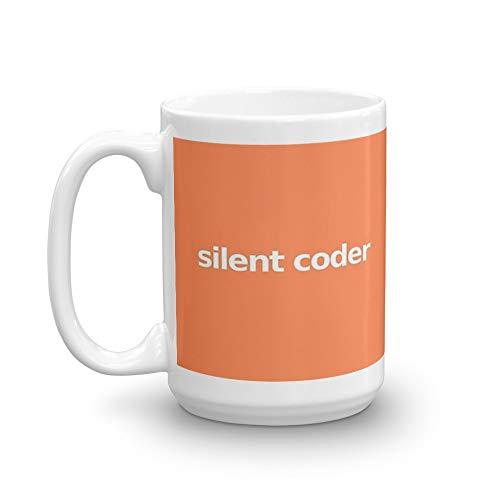 Silent Coder - Orange 15 Oz White Ceramic (Best Sentiment Analysis Python)