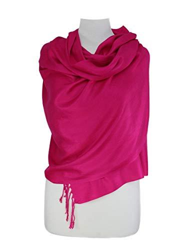 Paskmlna Large Solid Color Pashmina Shawl Wrap Scarf 80