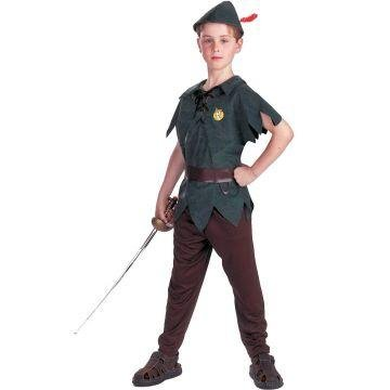 PETER PAN CHILD COSTUME, GREEN, 7-10 by