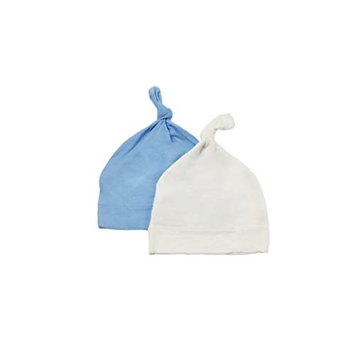 2 Pack KYTE BABY Bamboo Rayon Baby Beanie Hats Soft Knotted Caps