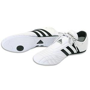 ADIDAS SM II SHOES - white w/black stripes - 10.5