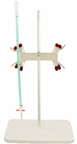 Talboys 916187 Aluminum Double Buret Clamp and Support Stand with Rod, 578mm Length