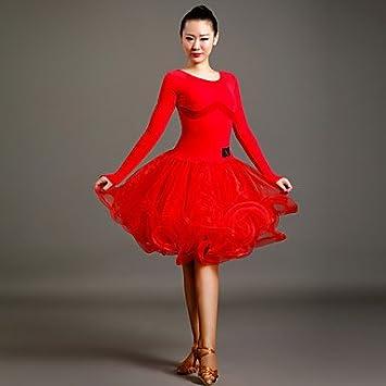 Vestido rojo con tul negro