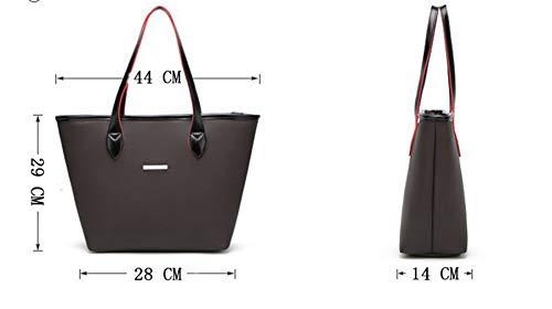 Quadrati 29 Heeyuan Spalla di Lavoro il Pelle Tote Borse Donna Viola Mano PU Handbag Shopper in 14cm Grande Borse a 28 Classico Nero a Borse Zzzrw