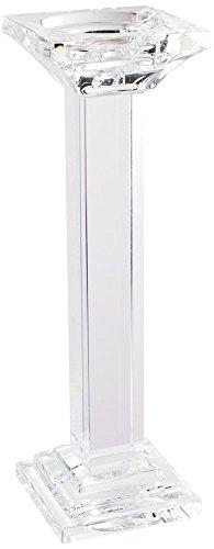 "A&B Home Tall Leon Crystal Pillar Candle Holder, 13"""