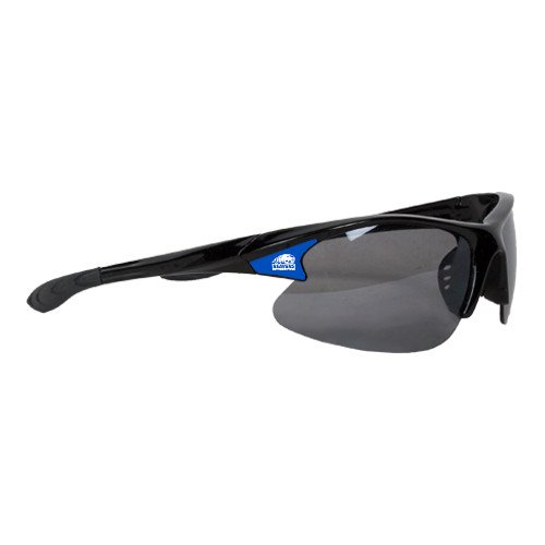 Pratt CC Mens Black Sporty Sunglasses 'Official Logo' by CollegeFanGear