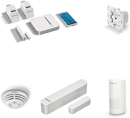 Bosch Room Climate Starter Kit, Set of 4 Pieces + QQQQQQQQQQQ, Set of 2 Pieces + Motion Detector, 3 V, White + Door/Window Contact + Smoke Detector