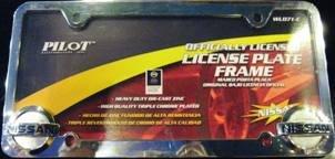 Pilot Chrome Nissan License Plate Frame (Nissan License Plate Frame)