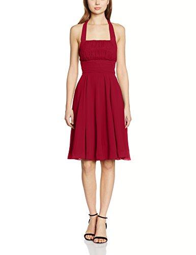 Mujer My Vestido de Rojo Dress para E Noche de Burgundy Fiesta Evening Samantha 40 y Zv4fq