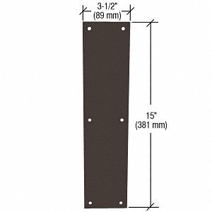 CRL Oil Rubbed Bronze Push Plate M60310B