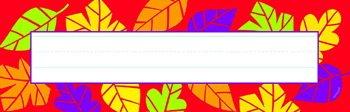 Lively Leaves Desk Topper - Lively Leaves Desk Topper Name Plates