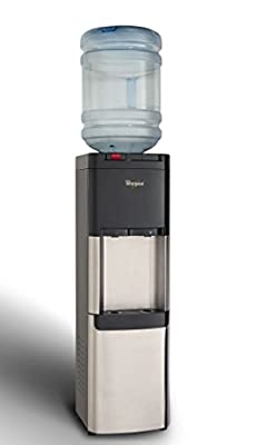 Whirlpool Stainless Steel Water Cooler Dispenser with Ice Chilled and Steaming Hot Water
