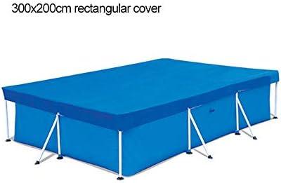 Cubierta rectangular para piscina, resistente a los rayos UV, impermeable, resistente al polvo, resistente al agua, 300 x 200.: Amazon.es: Jardín