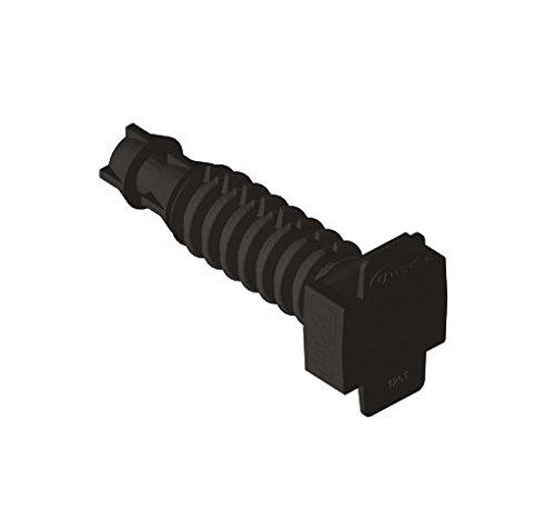 Unex 1251/U63/X Taco pression Distanciador 8/Polyamide couleur noir emballage de 100