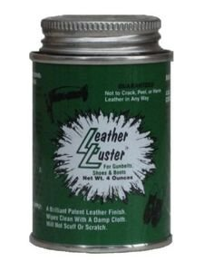 Leather Luster Hi Gloss Brilliant Patent Leather Finish w/Applicator 4oz - BLACK - Black Leather Finish