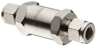Parker C Series Stainless Steel 316 Check Valve, 0.33 psi Cracking Pressure, A-Lok Compression Fitting