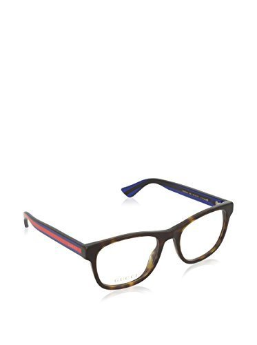 Gucci GG 0004O 003 Havana Plastic Square Eyeglasses - Designer Eyeglasses For Women