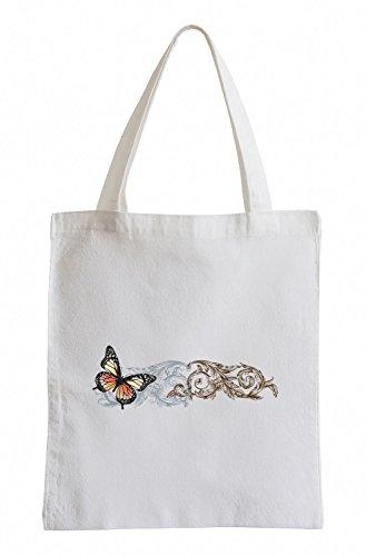 Raxxpurl grande farfalla Fun sacchetto di iuta