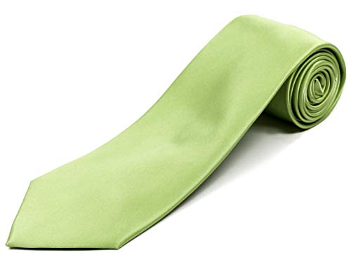 Extra Long Tie for Big and Tall Men - 100% Silk - Solid Lime Green - 70