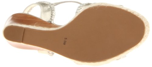 Platin Clare Damen Keilabsatz Rope Sandale Wedge RogersClare Jack Rope q6CwUxR