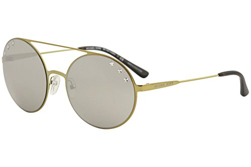 Michael Kors Womens Cabo 0MK1027 55mm Pale Gold Tone/Silver Mirror One - Kors Michael Round Sunglasses