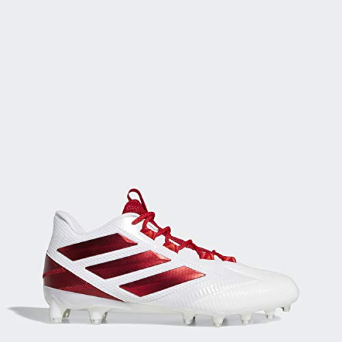 adidas Men's Freak Carbon Low Football Shoe, White/Power red/Active red, 11 M US