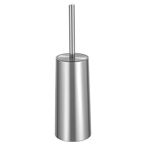 h and Holder, Stainless Steel and Rust-Resistant Round Bowl Toilet Scrubber Set for Bathroom Toilet ()
