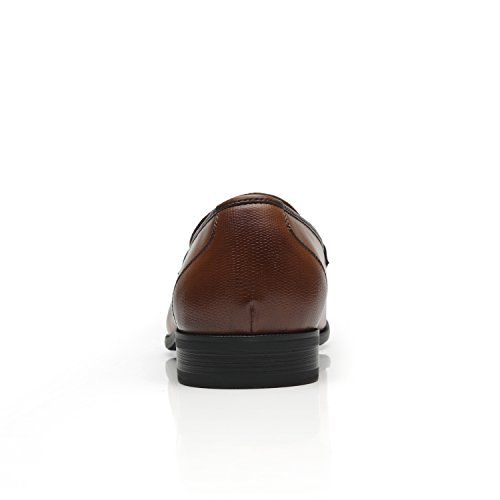 Faranzi Chaussures Pour Hommes Oxford Cosy-1-marron