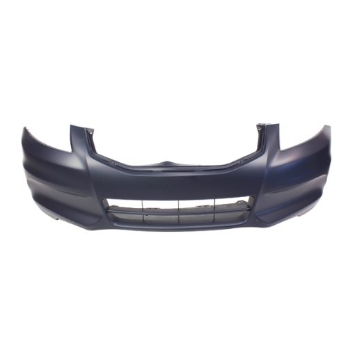 CarPartsDepot, Sedan Primered Black Front Bumper Cover CAPA Certified Wo Fog Lamp Holes, 352-202181-10-CA HO1000278 04711TA0A91ZZ