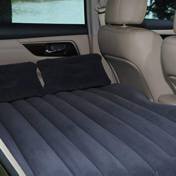 Uniqus Car Travel Inflatable Mattress Air Bed Camping Universal SUV Back Seat Couch(Grey)