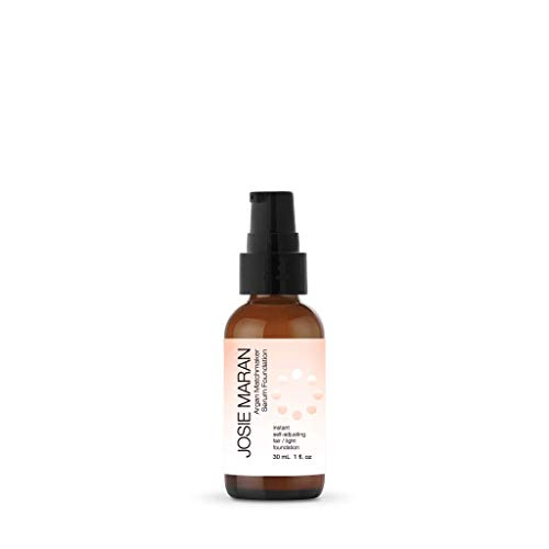 Josie Maran Argan Matchmaker Serum Foundation - Chameleon Pigments Match Skin and Provide Age-Defying Coverage - (30ml/1.0oz, Fair Light)