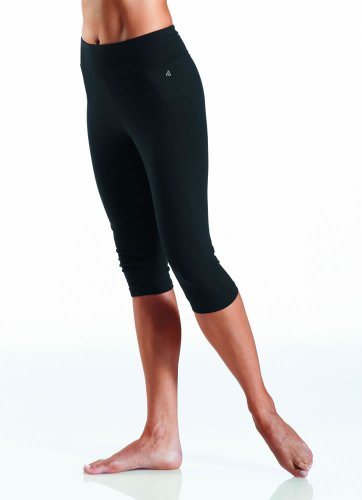 Jockey Women's Activewear Cotton Stretch Capri Legging, black, L