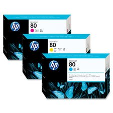 HP C4872A HP 80 Ink Cartridge, 175ml, Yld 2200 Pages, CYN