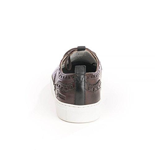 Grenson Sneaker 3 Uomini Dipinti A Mano Della Scarpa Da Tennis Marrone