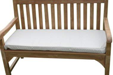 Cojín para muebles de jardín - Cojín para banco de jardín de 2 plazas - Color beige claro
