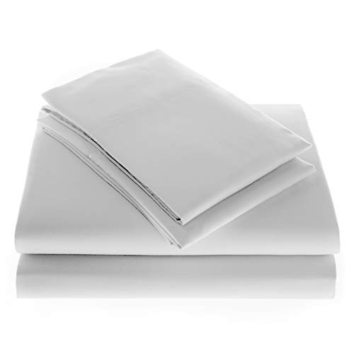 American Bedding Company 4 Piece Sheet Set, Ultra Soft, Microfiber, King (White) - Silk Piece 4 Bedding