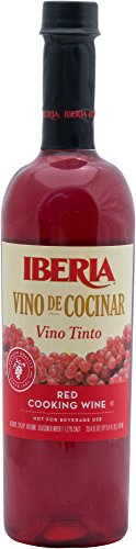 Iberia Red Cooking Wine 25.4 fl. oz., Exclusively for Cooking, Full-Strength Wine That Enhance the Flavor of Almost Any Dish (Best Red Wine For Cooking)