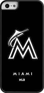 OTTHVE - MLB Team Logo, Miami Marlins Team Logo iPhone 5 & 5s Case (Black) - Miami Marlins 1